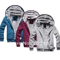 Men's Jacket 2013 Winter Warm Fur Thickening clothing Sports coat Casual Sweatshirt Discount New Brand M L XL XXL XXXL