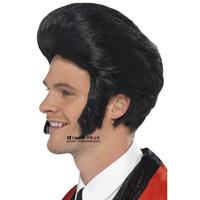 Free shipping Elvis Aron Presley Black short hair wig star wig, cos elvis fashion boys wig