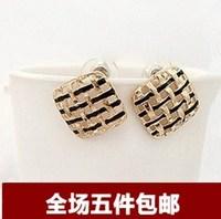 Fashion female vintage rose gold ear buckle stud earring anti-allergic ear hoop earrings earring
