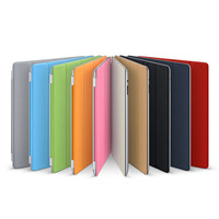 New Flip Hard Protective PU Leather Case Back Stand Smart Cover for new ipad, With Sleeping Function Free Shipping
