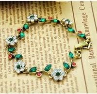 Fashion accessories vintage antique national personality trend diamond flower bracelet