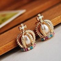 Stud earring diamond earrings pearl unique stud earring ear hook earring accessories