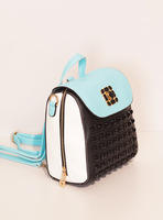 Fashion fashion rivet vintage backpack travel backpack sweet mini-package multi-purpose bag shoulder bag