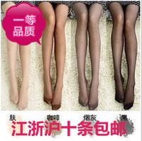 10 socks thin female ultra-thin stockings full transparent sexy stockings Core-spun Yarn socks rompers wire