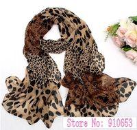 10Pcs Women's Fashion Long Soft Wrap Lady Shawl Silk Leopard Chiffon Scarf ZK020