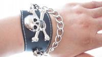 Punk leather bracelet hand ring bracelet wrist chain hip-hop bracelet male skull