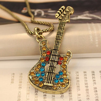 David jewelry wholesale  24 k gold plated  guitar necklace   free shipping (Min order $10 mixed order)  X130