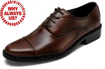 new 2013 Men's genuine leather shoes flats Oxfords Shoes men Large Size 38-47  brand  Business Dress Shoes
