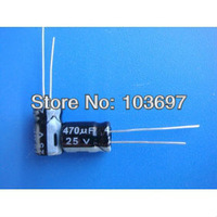 100pcs New 470uf 25v  105C Radial Electrolytic Capacitor 8x12mm