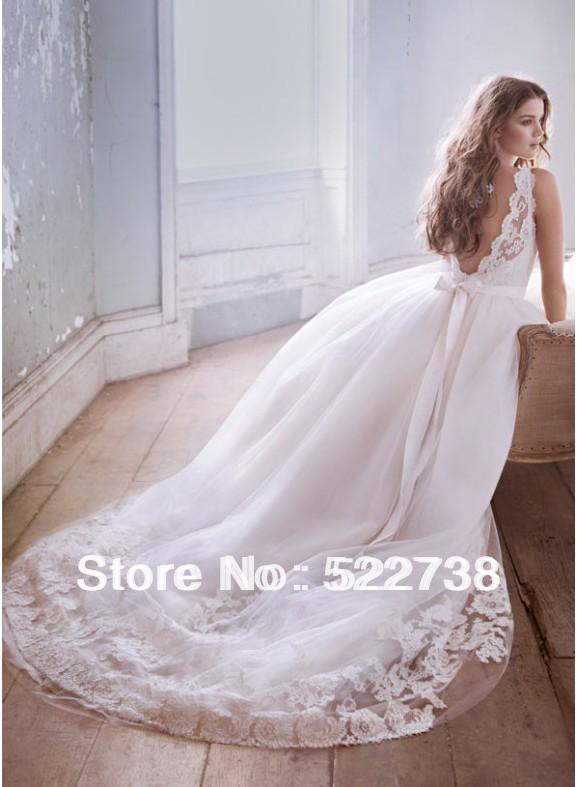 open back wedding dress Open Back Ball Gown Wedding Dresses
