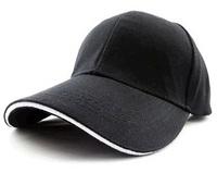 Unisex Classic Trucker Baseball Golf Mesh Cap Hat -Black with White Line