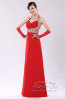 2013 red bride  long design wine formal dress evening dress costume h012