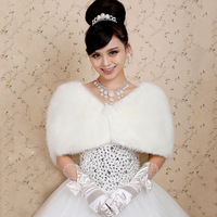 Bridal cape white winter paragraph thermal fur shawl wedding dress p07