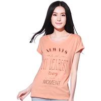 2013 summer JEANSWEST women's cotton blending flat stripe o-neck print short-sleeve T-shirt