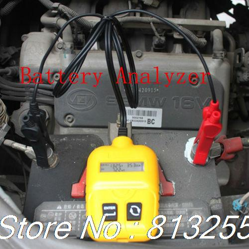 Battery Analyzer Automotive Battery Analyzer Car 2013 New Arrivals with Best Price and easy to use for the test carVoltgage(China (Mainland))