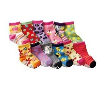 ( 12 pairs/lot ) Baby socks rubber slip-resistant floor socks cartoon small  kid's socks