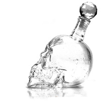 LY054-150  Crystal Skull Head Vodka Whiskey Shot Glass Bottle Drinking Home Bar Decanter 150ml;