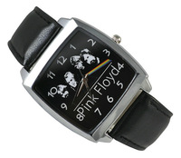 Pink Floyd Black Leather Band Fashion Watch Wrist  Free Shipping