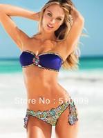 Free Shipping 2013 new bikini swimwear Crystal beachwear female swimsuit