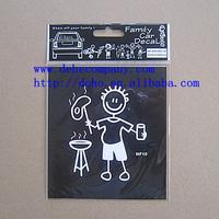 (64 designs/ Lot ) New model Original Stick Family Decal / Window Sticker-- NF10