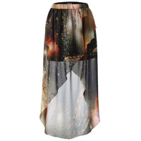 2013 New !!! Fashion Chiffon Mini Skrit Trumpet Sky Star Printing Skirt