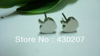 17.Apple style Earrings,Stainless Steel Earrings,Min.order is 10 pairs/Free Shipping