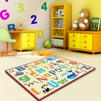 Free Shipping!High Quality Nylon Child crawling print carpet  100x142cm/Factory direct sale