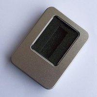 Tin square tin gift packaging box usb flash drive packaging box