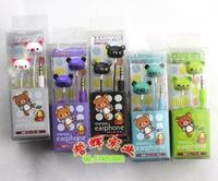 Easy bear earphones bear earphones in ear earphones cartoon earphones