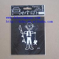 (64 designs/ Lot ) New model Stick Figure Family Decal Car Window Sticker-- NF6