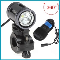 10sets/lot 1200lm CREE XML U2 Waterproof LED Front Bicycle Light Bike Lamp with 360 Degrees Rotated Holder + 7.4V Battery Pack