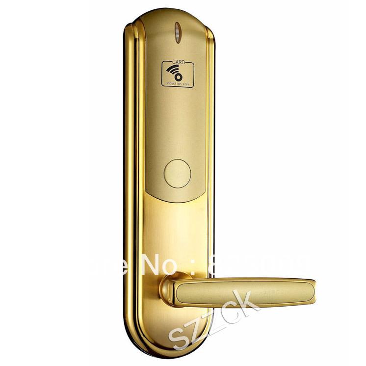 zinc alloy ID card hotel lock RFID card hotel door lock easy installation door lock(China (Mainland))
