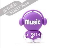 Music man Plastic USB Flash Drives thumb pen drives memory stick promotion 2GB 4GB 8GB 16GB 32GB Free shipping