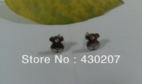 37.LOVELY BEAR WITH DIAMOND  style Earrings,Stainless Steel Earrings,Min.order is 10 pairs/Free Shipping