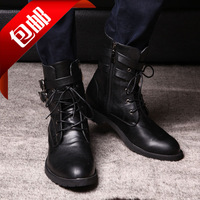 [Free shipping] 2013 New arrival fashion male martin boots pointed toe clothes boots big size snow boots men's shoes
