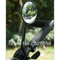 LY088   2013 Bike Bicycle Cycling Mirror Handlebar Glass Flexible Rearview Black