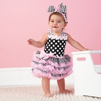 104 Retail Free shipping Ruffle Sundress Fashion Baby Dress Baby Clothes