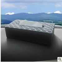 Auto supplies red wine car sun-shading board tissue box set car tissue box hanging tissue box