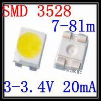 SMD LED 3528 LED  White 3.0-3.4V 20mA 2K/Reel 7-8lm