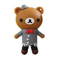 2G/4G/8G/16G/32G Novelty Cartoon Bear USB Flash Drive Pen Drive Memory Stick Free Shipping