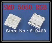 Free shipping SMD 5050 RGB LED 3.0-3.4V 60mA 1000PCS/Reel