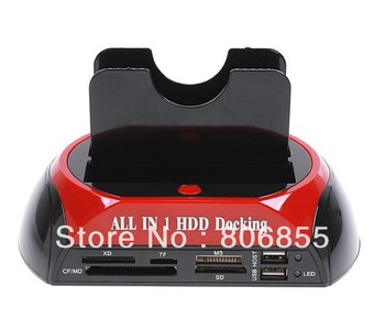 "2.5"" 3.5"" SATA / IDE 2 Double - Dock, All in one HDD Docking Station e- SATA / Hub External Storage Enclosure Parts"