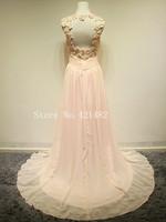 2013 Sleeveless Chiffon with Beadings Prom Dresses rhinestone flower dress Backless sexy prom dress free shipping