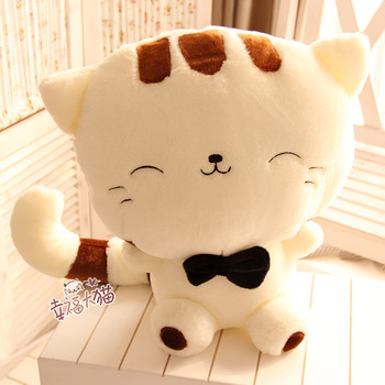 Free shipping 40cm special creative cartoon big face cat plush animal doll hold pillow stuffed toy novelty birthday gift 1 pc