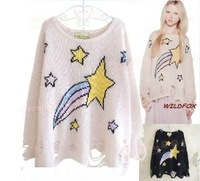 East Knitting NP-083 shooting star lenncn sweater galaxy sweaters poncho pullover knit cardigan wildfox 2013 free shipping