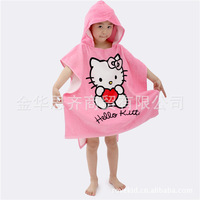 New cartoon animal baby hooded bathrobe/bath towel/bath terry.bathing robe for children/kids/infantKT