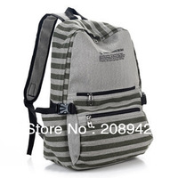 Best Selling!!Stripe backpack high quality ladies travel bag canvas backpack Free Shipping
