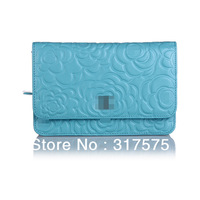 Free shipping 2013 new arrival fashion top brand women's wallets ladies money clip designer purse purple pink black blue