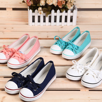 2013 Autumn Shoes New Arrival Low Shallow Mouth Canvas Fashion Shoes Designer Female Sneaker Breathable Casual Flat Shoes