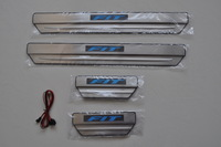 Stainless Steel Led cold light Side Door Sill Scuff Plate Trim For Hon da Fit